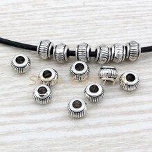 Hot Sale !  10pcs Tibetan Silver Crescent Tube Bracelet Beads 10mm ab790