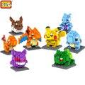 LOZ Bloques educativos juguetes Pikachu Bulbasaur Charmander Squirtle Mewtwo anime Juguetes para niños regalos de cumpleaños de Navidad para niños