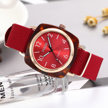 2019 Punk Woven Wrist Watches Fashion Ladies Dress Red Womens Watch Bracelets Luxury Quartz Clock Dropshipping relogios feminino