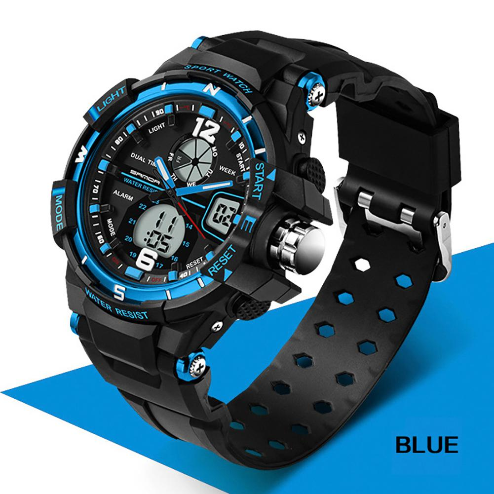 Fashion Waterproof Silicone Band LED Luminescent Alarm Sports Electronic Men Wrist Watch цена и фото