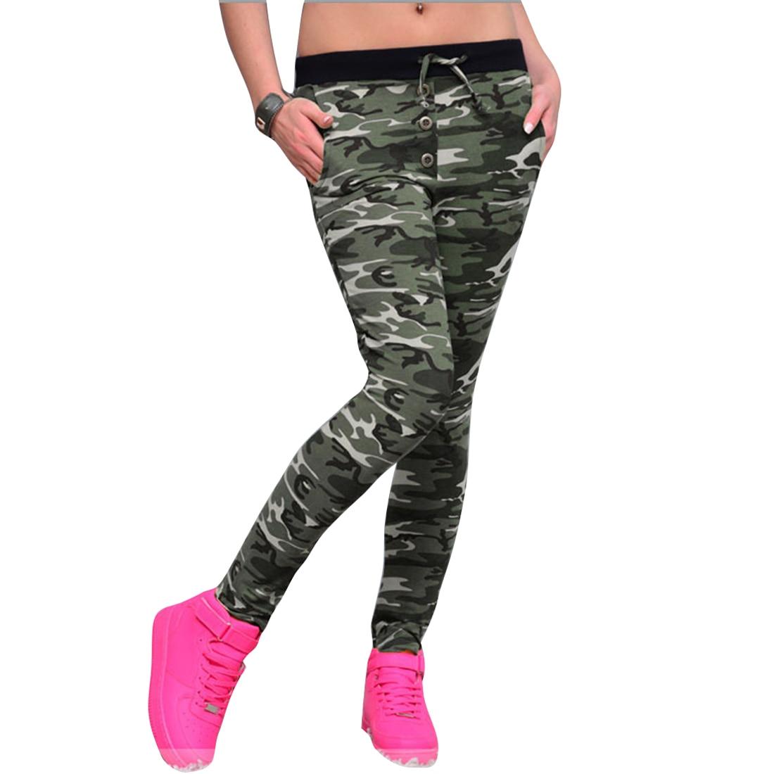 2017 Chaude Camouflage Pantalon Femmes Attaché Taille Extensible Pantalon  Mince Automne Hiver Lulu Leggings Pantalon Femme