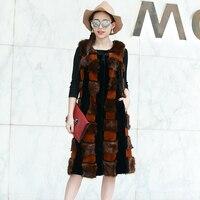 Nerazzurri Fur Brand Faux Fur Vest Women Sleeveless Long Furry Fake Fox Fur Gielt Plus Size Waistcoat 5XL 6XL 7XL High Quality