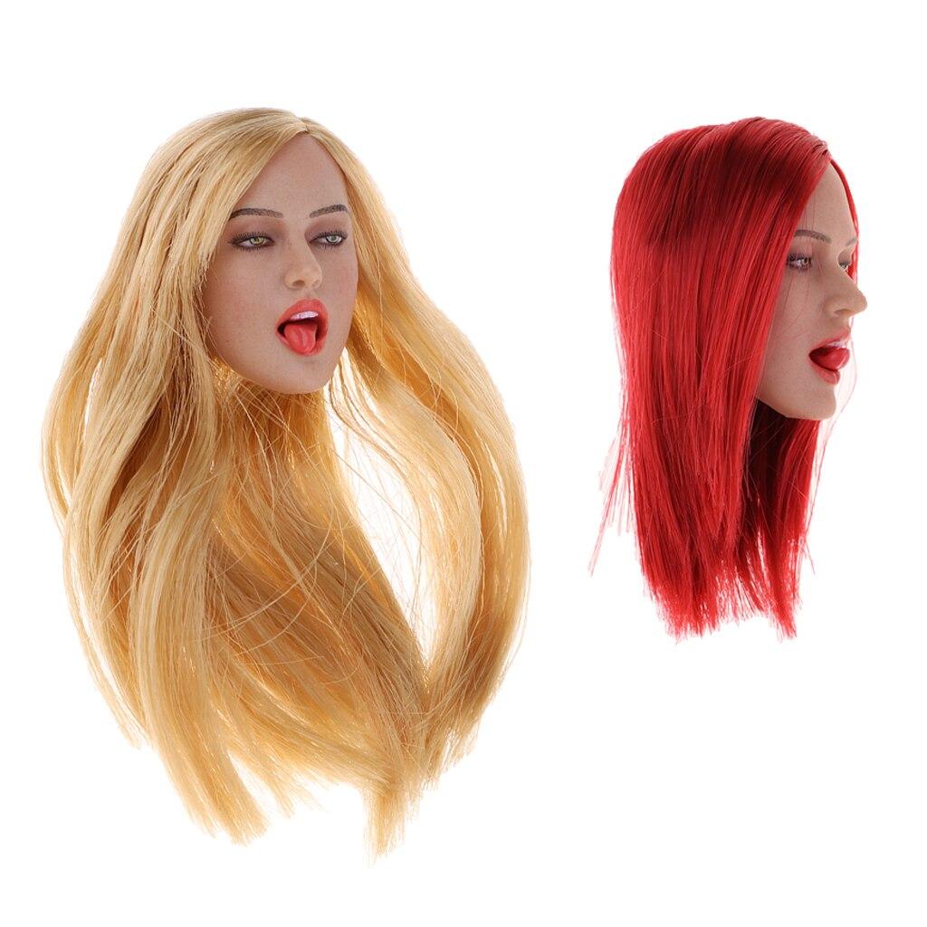 1/6 큰 유방 유럽 bueauty 바디 조각 된 머리 조각 모델 2 pcs 12 ''kumik cy cg 인형 완구 의류 액세서리-에서액션 & 장난감 숫자부터 완구 & 취미 의  그룹 1
