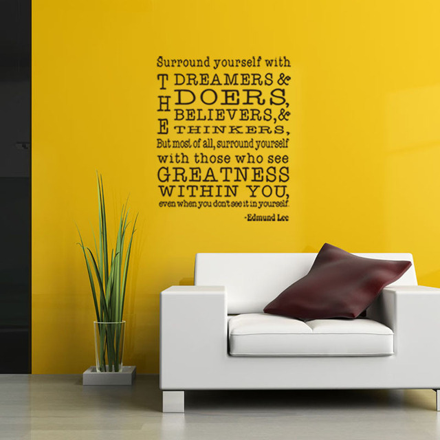 Letter Quotes Surround Yourself WithThe dreamers Wall Stickers Text ...