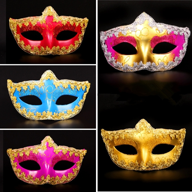 95241d3d9301 Christmas masquerade mask Venice, Italy mask electroplating Angle  surrounding edge coloured drawing or pattern