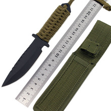 7.5 Inch Camping knife Combat Tactical Knife Survival knife hunting knife with Nylon Sheath Fixed Blade