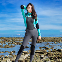 Womens Wetsuit Full Suit, 1.5mm Neoprene Long Sleeve Jumpsuit Scuba Diving Surf Snorkeling Suits Warm Wet suit Women Female Blue