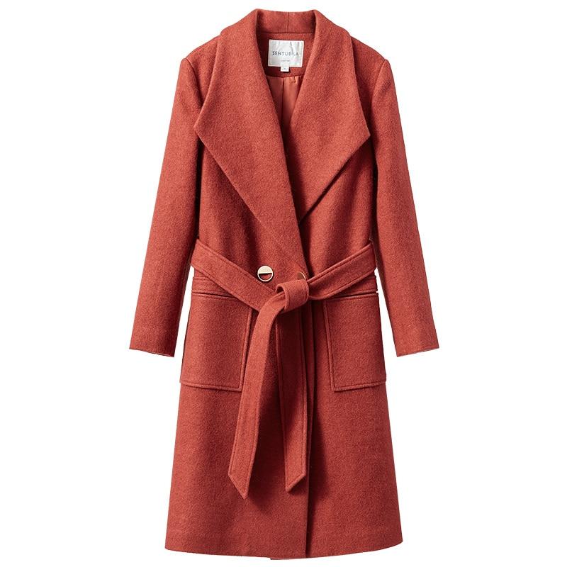 Double Abrigo De Red Coatswoman My164 Rouge Gray Boutonnage À Manteau Longue Feminino Laine Casaco L'hiver Bleu Mujer Kmetram rust Vintage 2018 Blue ASndqx8Fw6