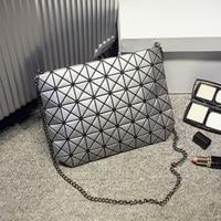 ALIEME Famous Brands Women Fashion BaoBao Bag Geometric Splicing Bag Shoulder Bags Plaid Laser Shopping Bag