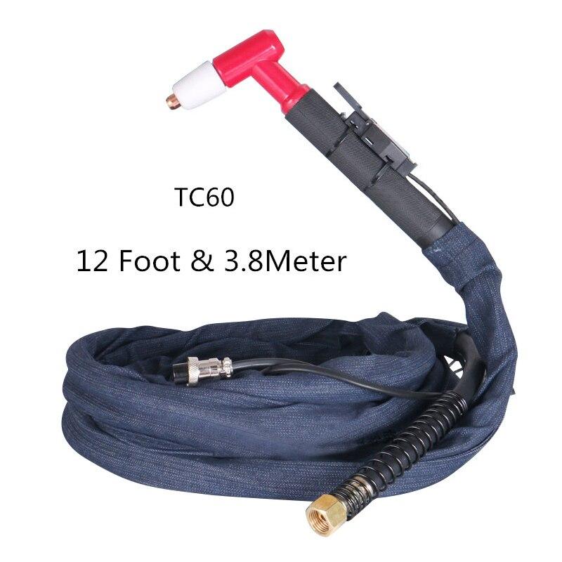 12 Foot & 3.8 Meter TC-60 plasma cutting machine cutting torch cutting head 60A Pencil Torch Head Body