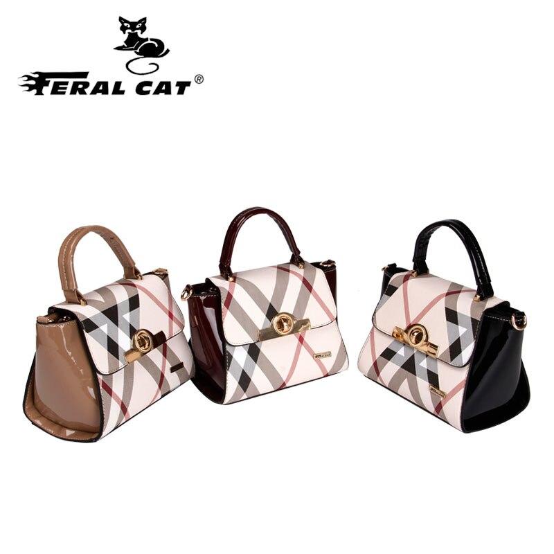 FERAL CAT Women bag Luxury handbags women bags designerPVC Bolsas femininas bolsas de couro Bags famous brands