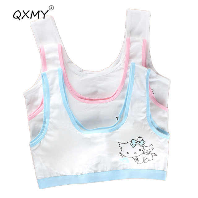 cotton baby girls training bras cute kids bras for kids training bra teenage girl underwear student cat priness training bras