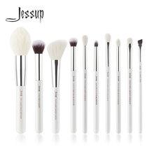 Jessup жемчужно белый/серебристый Профессиональный набор кистей