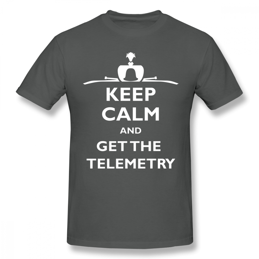 Falconry T Shirt Keep Calm And Get The Telemetry T Shirt Cotton Awesome Tee Shirt Printed Male Short Sleeve Big Casual Tshirt in T Shirts from Men 39 s Clothing