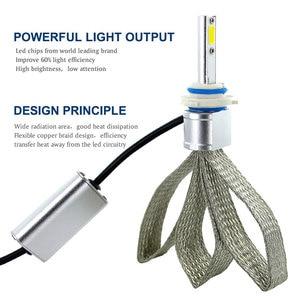 Image 2 - 2 Chiếc H4 LED H7 H11 H8 Đèn Pha Ô Tô Bóng Đèn 9005 HB4 9006 H1 H9 H10 H16 (JP) HB3 LED Đèn COB Chip Tự Động Đèn Sương Mù 6000K 12V