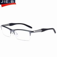 JIE.B Brand Prescription Glasses Frames Aluminium Magnesium-Alloy Frame Spectacle Eyeglasses Myopia Glasses sports goggles