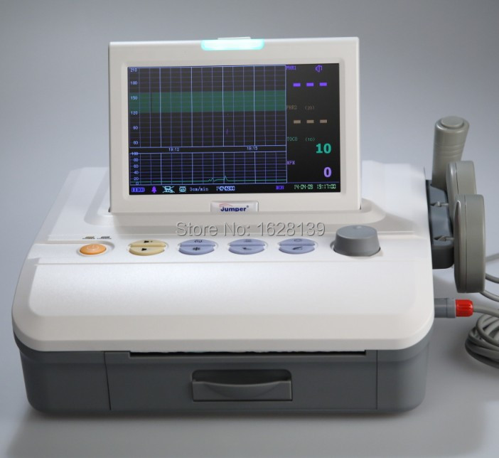 Brand New fetal monitor 7 CTG machine display with flip screen, FAS technology ultrasound machine with fetal stimulator fuction
