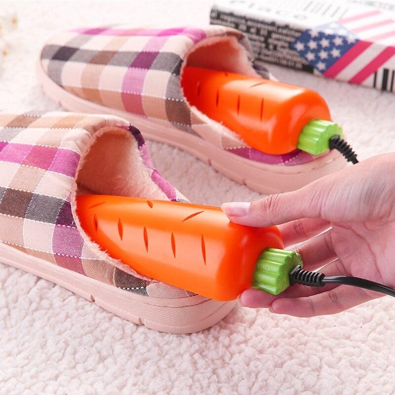 New Carrot Shape Shoe Dryer Heating Insoles Sterilization Deodorant Dehumidify Home Shoe Care Kit New Cute Shoes Dryer multifunctional shoe socks gloves dryer timing uv deodorization sterilization shoe drying machine heating shoes
