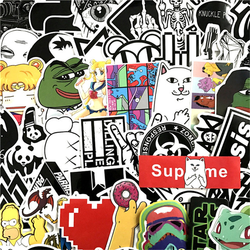 90pcs car-styling rick supreme stickers ripndip star wars laptop motorcycle bicycle travel case decal Car accessories sad frog аксессуар altec lansing octiv 450 speaker system mp450e