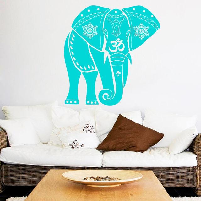 Online Shop Elephant Buddha Wall Decals Mandala Symbol Meditation