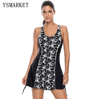 Summer Swimdress 2017 Plus Size 3XL Womens Hollow Out Backless Tank Dress Swimwear Bathing Suit Sexy