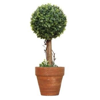SZS Hot Jardim de Plástico Grama Bola Topiary Árvore Vaso de Planta Seca para Festa de Casamento Decoração (Esférica)
