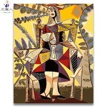diy colorings paints by numbers Picasso abstract figure pictures paintings figures with kits canvas paint 40x50 frame