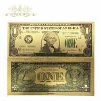 Colección de dinero falso del mundo 10 unids/lote Billetes de dólar dólares estadounidenses, billete de hoja de oro, regalos de moneda, envío gratis