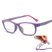 Крутые дети Близорукость очки рамки мальчик девочка прямоугольные Детские Amblyopia очки Nerd TR90 Гибкие Дети пластик памяти