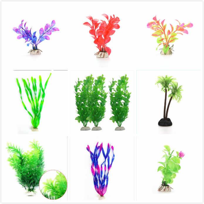 مستلزمات الحيوانات الأليفة خزان حوض أسماك المياه الخضراء العشب المشهد الديكور تحت الماء الاصطناعي النباتات المائية الحلي