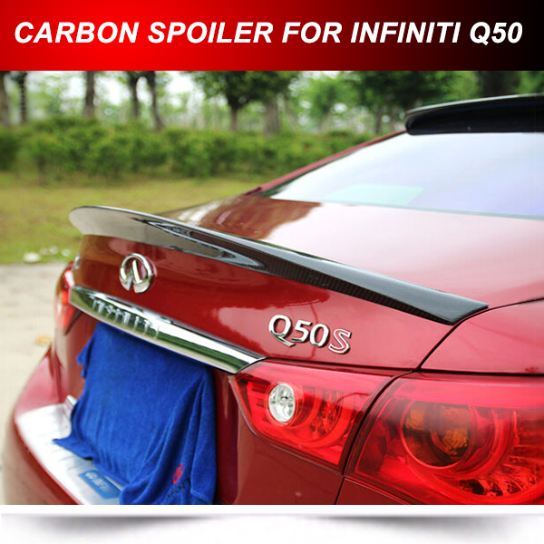 FITS FOR INFINITI Q50 CARBON FIBER TRUNK BOOT SPOILER WING 2014 2015