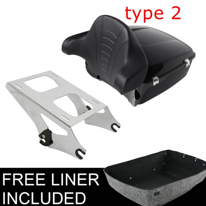Tour Pak Pack Trunk Metal Base Plate Kits For Harley 2014-2019 Touring Models