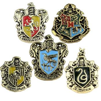 Модный значок в виде Поттера, Слизерин, Когтевран, символ школы, металлический значок, булавка, брошь, аксессуар для костюма, пуговица, украшение, подарок, лидер продаж|Броши|   | АлиЭкспресс
