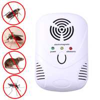 US EU Plug 6W Electronic Ultrasonic Mouse Killer Mouse Cockroach Trap Mosquito Repeller Mouse Insect Killer