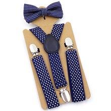 Комплект с подтяжками и бабочкой; Модный регулируемый комплект с 3 сильными клипсами; Y Back; брюки на подтяжках для детей
