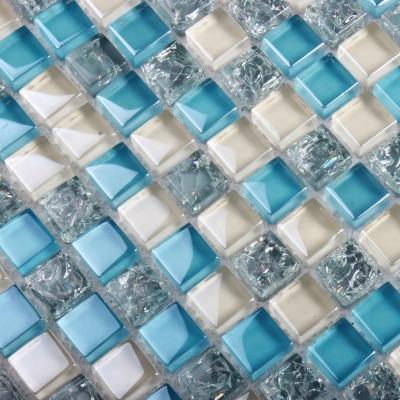 Blau Weiss Glasmosaik Fliesen Ehgm1049a Fur Schwimmbad Badezimmer