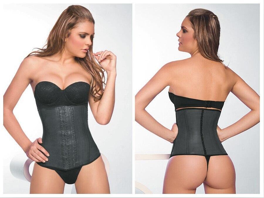 Noir/Beige Fitness grosse ceinture brûlante femmes Sexy taille du corps formateur Shapers sous le buste ceinture Corset Faja réductora Shapewear