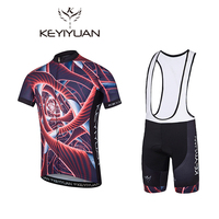 2018 KEYIYUAN New Spinning Bike Cycling Clothing Men And Women Cycling Couple Wearing Shirts Outdoor Short