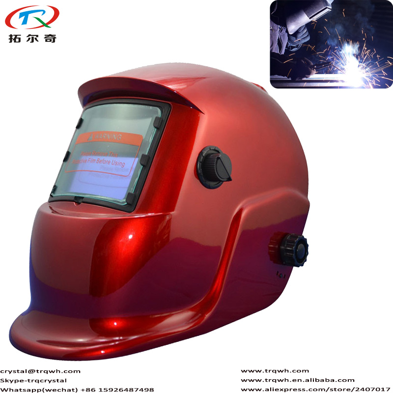 TRQ-HS03-2233FF Brand Welding Helmet Lowe Test Battery Replaceable Self-check Function Electric Welding Tools Power Eyes Protect