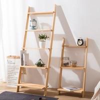 Floor plant stand solid wood ladders books shelf wall organizer kitchen storage living room shelves for wall bathroom racks