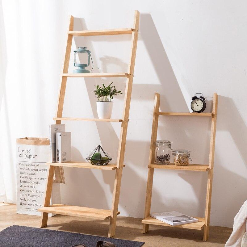 Plancher plante stand en bois massif échelles livres étagère organisateur mural cuisine rangement salon étagères pour mur salle de bains supports