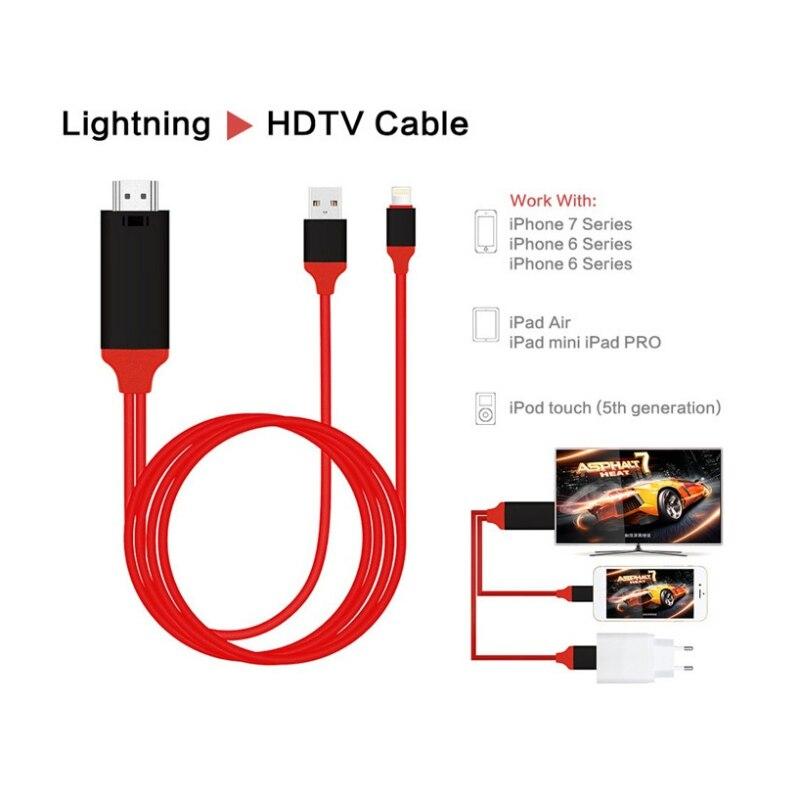 EDAL 1080 p HDTV TV Digitale AV Cavo Adattatore 8 Spille al Cavo di HDMI USB HDMI Smart Cavo del Convertitore per apple TV iPhone 8 Per iPad Air