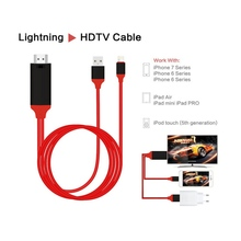 Эдал 1080 P HD ТВ цифровой av-адаптер шнур 8-контактный HDMI кабель USB HDMI Smart Converter кабель для Apple ТВ iPhone 8 для iPad Air
