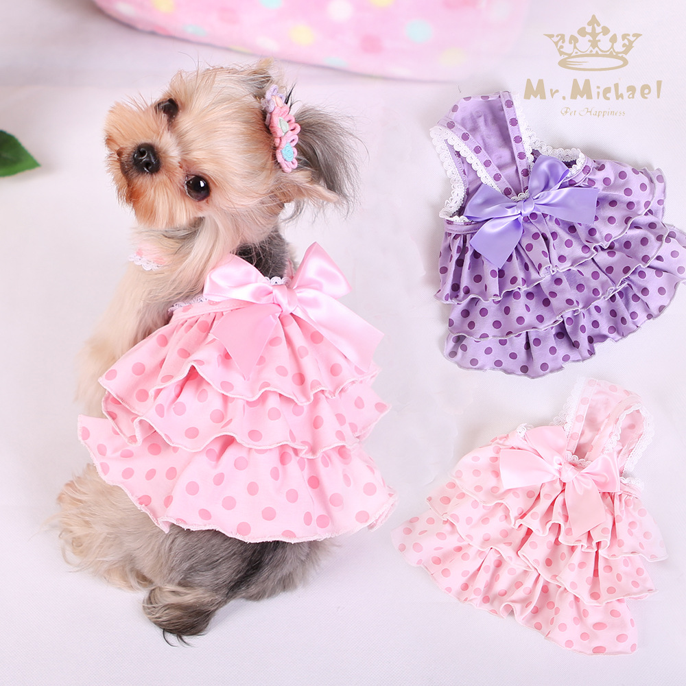 a27c941f97fa Cotton Bowknots Dog Skirt Pet Skirt Suitable Pinky Purple Skirts For Dogs  Pets Speacil Wearing Party Dog Dress Pet Supplies-in Dog Skirts from Home &  Garden ...