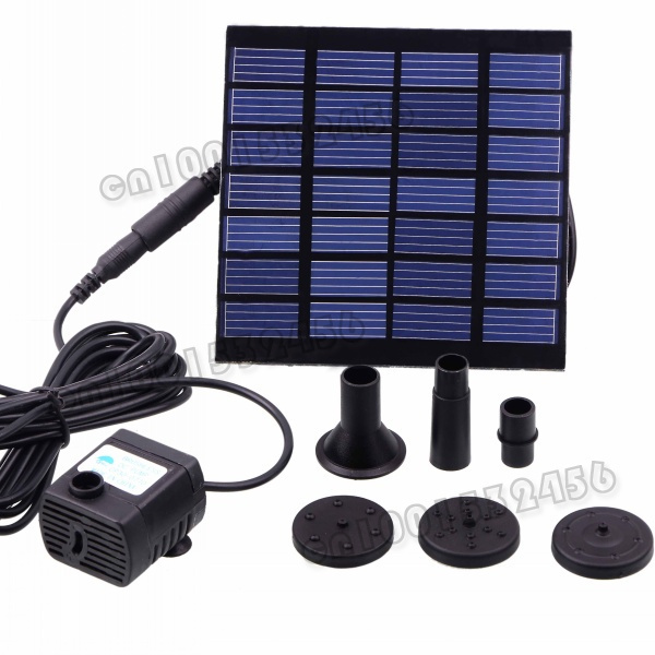 Pool Water Pump Garden Plants Watering Kit Solar Power Fountain Soar Pump/Water Pump  11264