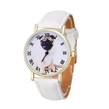 Wo Weinie 2016 Funny Cute Kids Dog Leather Band Analog Quartz Vogue Wrist Watch  Lady Child Girl Dress Causal Quartz Hot Selling