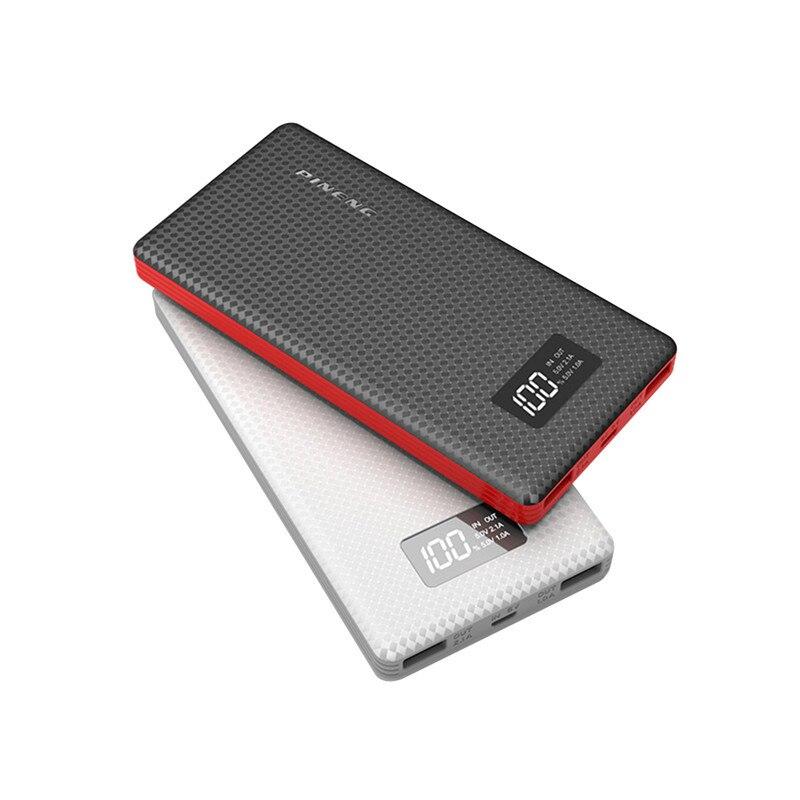 Цена за Pineng Мощность Bank 10000 мАч Портативный внешний Батарея Мощность Bank USB Зарядное устройство литий-полимерный со светодиодным индикатором для Iphone Смартфон