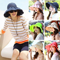 Новое Лето Женщины Леди Sun Beach Складной Roll Up Hat Широкими Полями Флоппи Козырек Шапки
