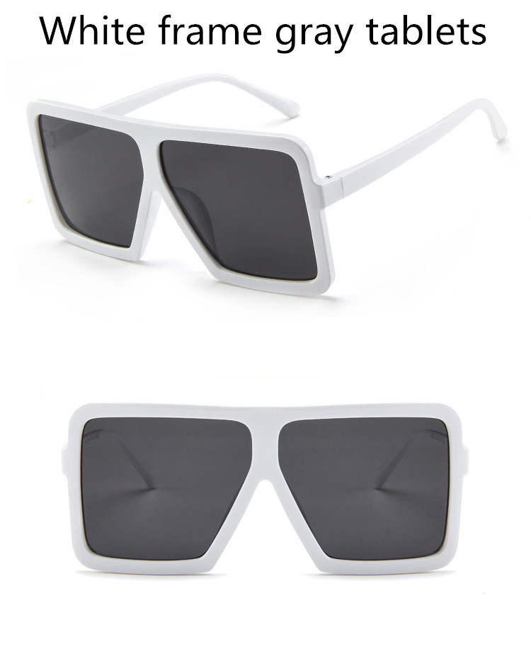 ASUOP2018 large frame new retro ladies sunglasses black radiation fashion men's glasses UV400 international luxury brand square goggles (4)