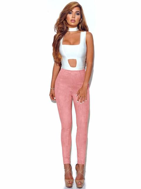 Design de moda Hot 2016 sexy de corpo inteiro calças de cintura alta mulheres calças elegantes calças bodycon